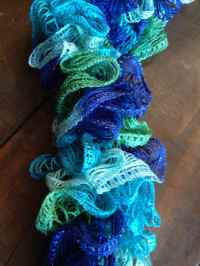 Knitted Ruffled Scarf and Comparison to Crocheted Ruffle ...