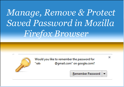 Manage and Remove Save Password In Mozilla