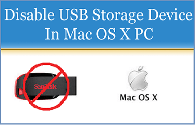 Disable USB Storage Device in Mac OS X