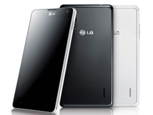 The LG optimus G Front and back