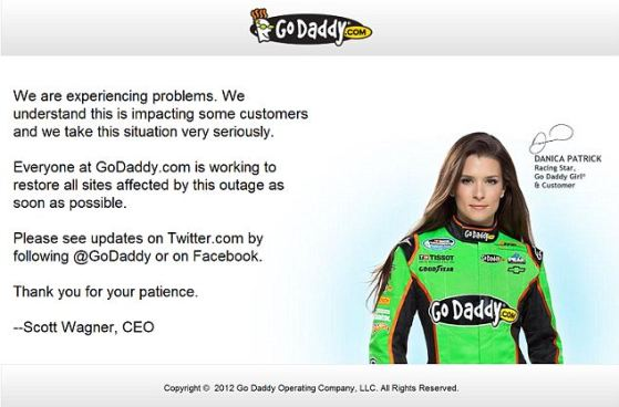 GoDaddy.com gets back to normal