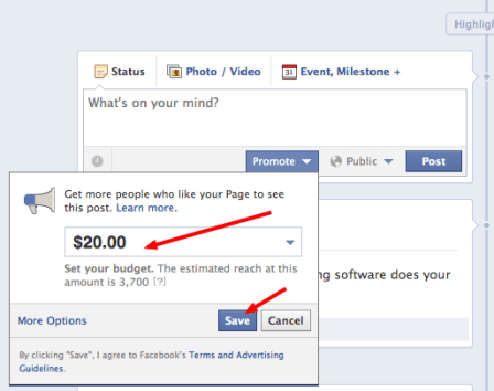 Promote your posts with Facebook's new feature