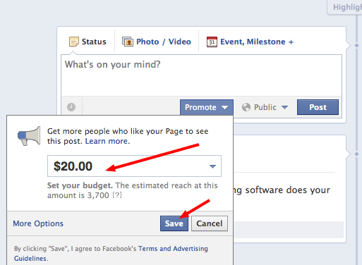 Americans can now bump other posts on Facebook with Promote feature