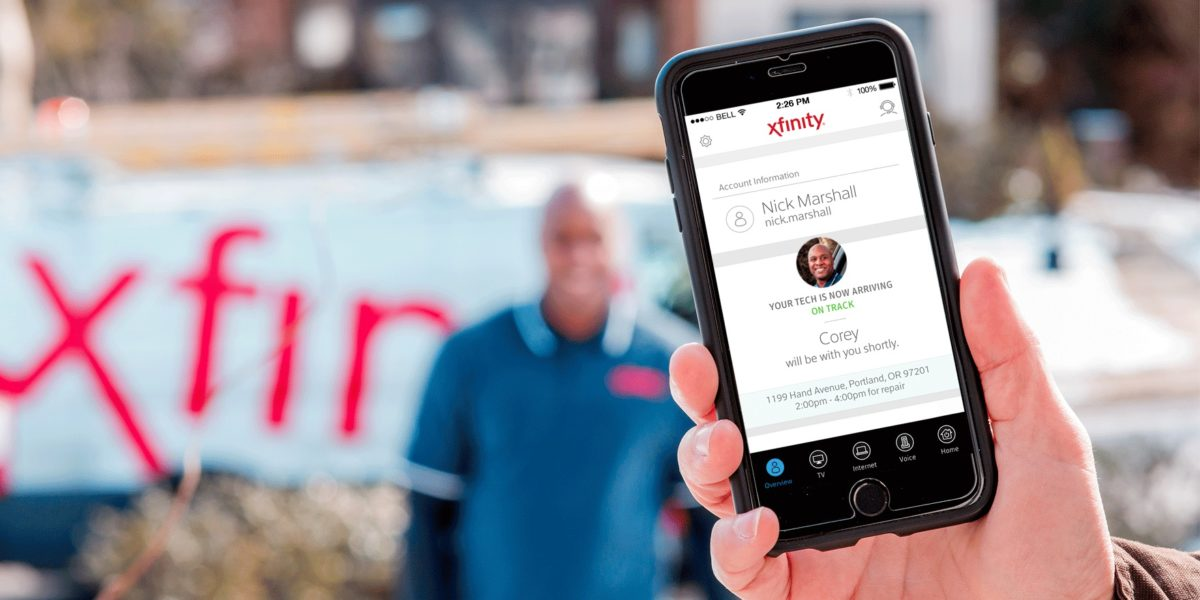 Comcast rolls out app feature that lets you see when your technician
