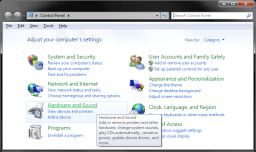 Windows 7 - Control Panel