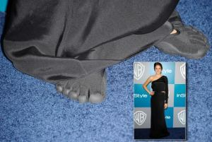 shailee-woodley-golden-globes-after-party-running-shoe