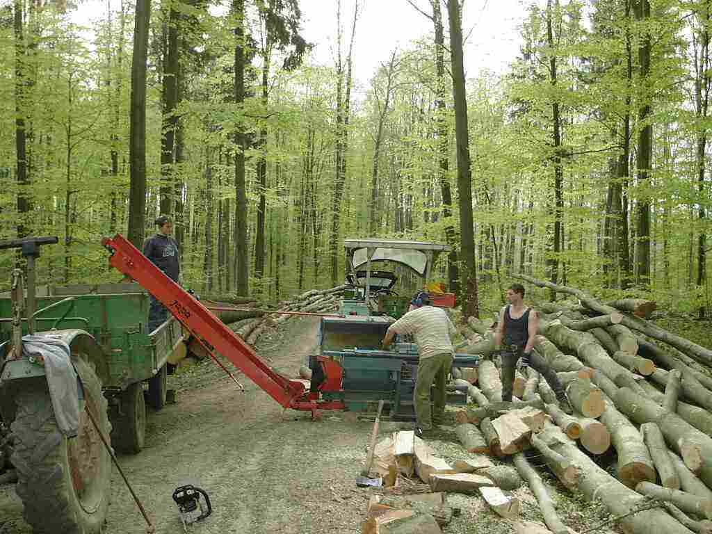 Poolheizung Holzofen Holz Machen Im Wald