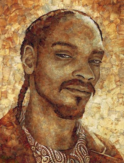 snoop dogg roach paper mosiac portrait