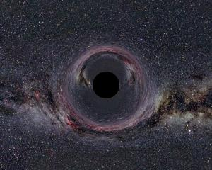Black Hole in front of the Milky Way by Ute Kraus