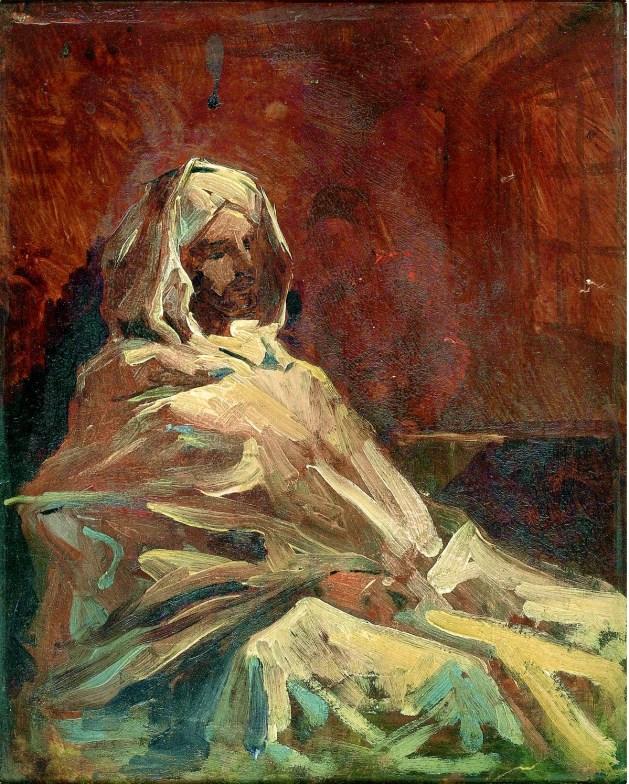 Henri Regnault - Man Sitting in Burnous