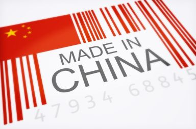 9685870 - product bar code symbolizing the massive amounts of imported goods from china isolated on a white background, 300 d.p.i