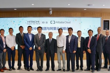 Signing Ceremony - Alibaba Cloud Collaborates with China Hitachi Group