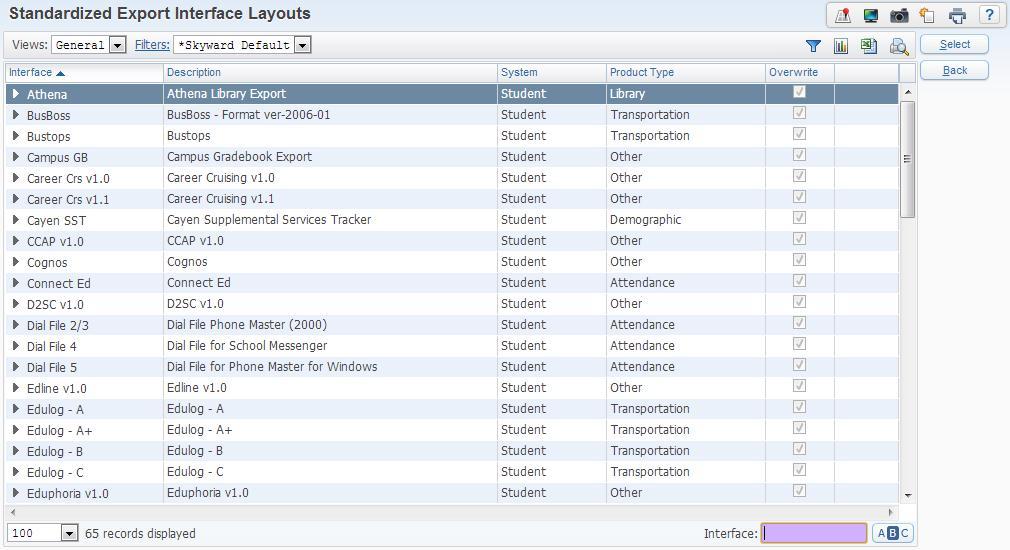 SkyBuild Export File Builder Overview of Export File Builder Using