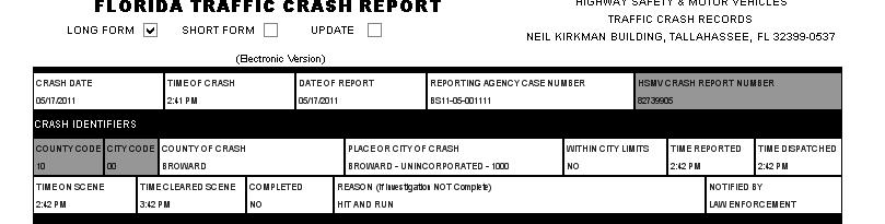 TRACS ELECTRONIC CRASH REPORTING FOR LONG FORMS ONLY INSTRUCTIONAL