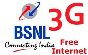 bsnl free 3g internet