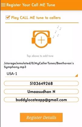 register for free caller tune