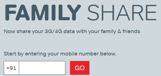 airtel data share