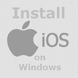 how to install ios on windows pc