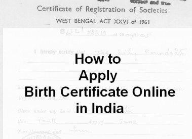 How to Apply for Birth Certificate Online/Offline in India