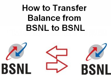 How to Transfer Balance from BSNL to BSNL Mobile Number-USSD Codes