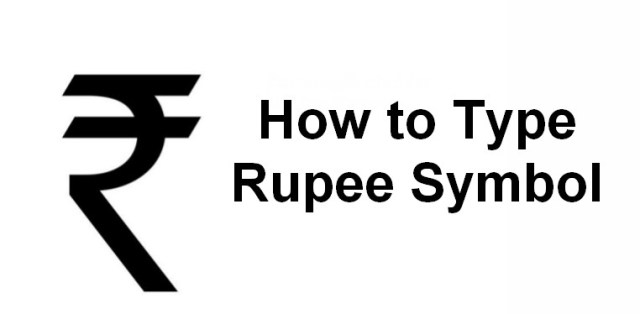 how to type indian rupee symbol