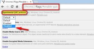 Disable Chrome QUIC Protocol