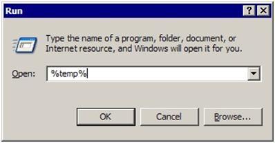 Delete the temporary files