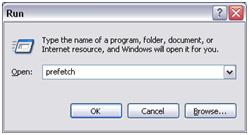 Delete the prefetch files