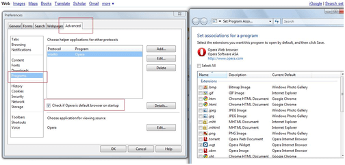 How to set Opera as Default browser