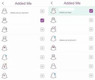 Adding Back a Friend snapchat