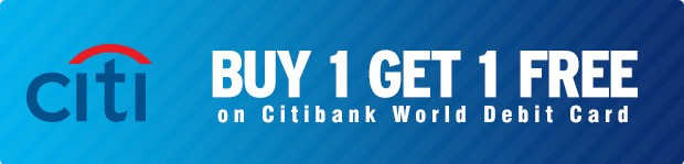 Citibank World Debit Card buy one get one free