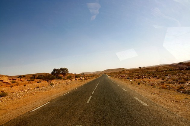 Driving to Ksar Ouled Soltane