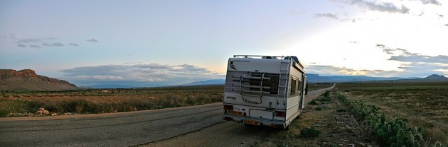 Our roadside wild-camp