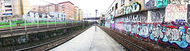 Urban grunge: The Ponte Casilino train stop