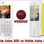 Nokia Asha 205 vs Nokia Asha 206 SmartPhone Comparison