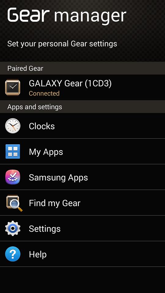 samsung gear manager apk for galaxy gear gear 2