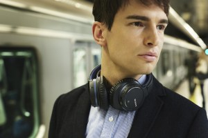 sony-headphones-on-the-train