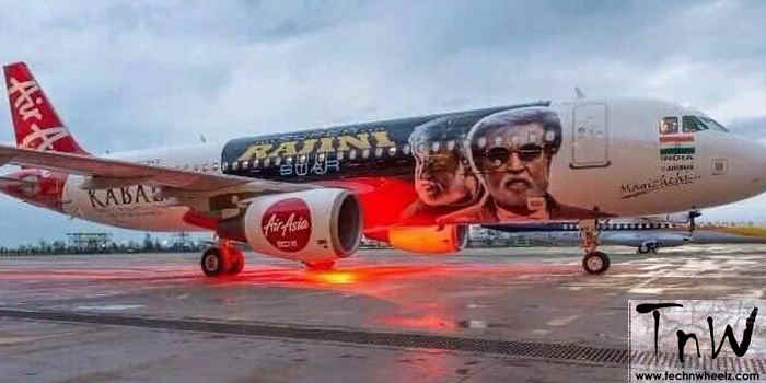 AirAsia's 'Kabali' flight Credits to respective owners