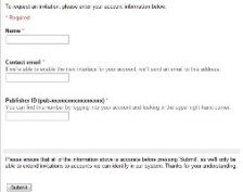 Adsense Beta Test Interest form