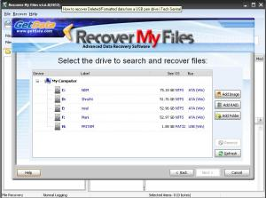 Select the drive