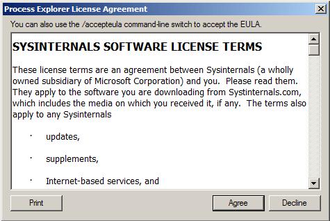 Process Explorer License