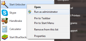 Unlocker Run as Administrator