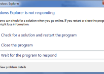 Windows Explorer Not Responding