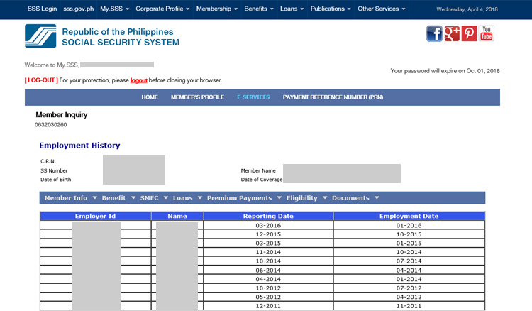 How to Check Your SSS Employment History Online - Tech Pilipinas