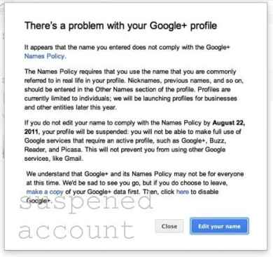 profile ban google How to restore your suspended Google plus account?