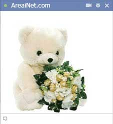 Teddy-bear-with-a-flower-bouquet