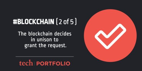The blockchain decides in unison to grant the request.