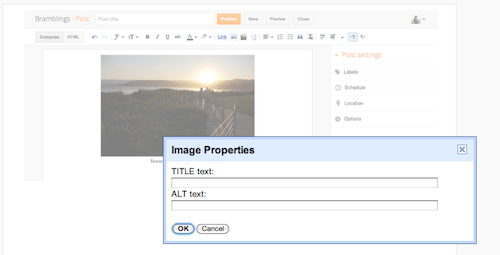 blogger image properties en Alt and Title tags for blog post images   Blogger SEO