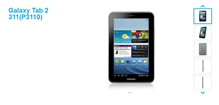 Samsung Galaxy Tab 2 311 (Wi-Fi only) launched for Rs 13,900