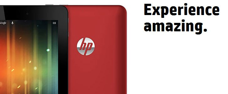 HP Slate 7 Android tablet with built-in Beats Audio, priced at $169